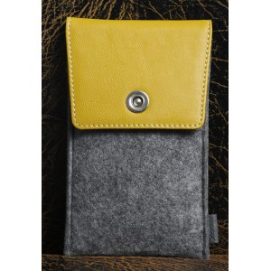 Войлочный мешок с кожаной отделкой и отделением для карт для ZUK Z1