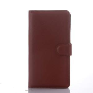 Чехол портмоне подставка с защелкой для Sony Xperia C4 Коричневый