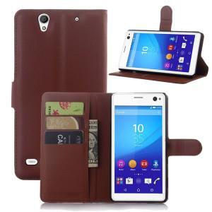 Чехол портмоне подставка с защелкой для Sony Xperia C4