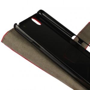 Глянцевый чехол портмоне подставка с защелкой на пластиковой основе для Sony Xperia C4