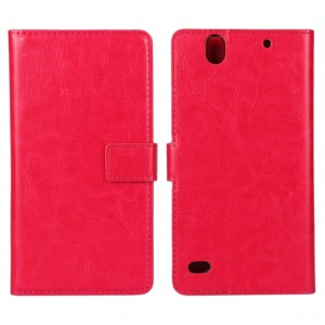 Глянцевый чехол портмоне подставка с защелкой на пластиковой основе для Sony Xperia C4 Пурпурный