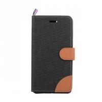 Текстурный чехол портмоне подставка с защелкой и отделением для карт на силиконовой основе для Sony Xperia C4