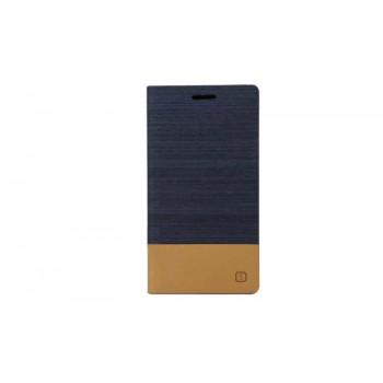 Текстурный чехол флип подставка на силиконовой основе с отделением для карты для Sony Xperia C4