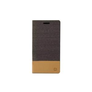 Текстурный чехол флип подставка на силиконовой основе с отделением для карты для Sony Xperia C4 Коричневый