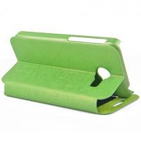 Чехол флип подставка с окном вызова для ASUS Zenfone 4 (A400CG) Зеленый