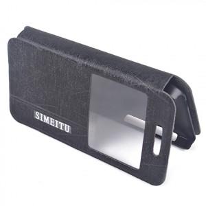 Чехол флип подставка с окном вызова для ASUS Zenfone 4 (A400CG) Черный