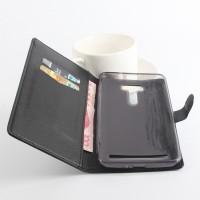Чехол портмоне подставка на силиконовой основе с защелкой для ASUS ZenFone 2 Laser 6 Черный