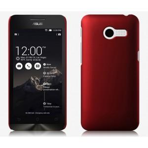 Пластиковый чехол серия Metallic для ASUS Zenfone 4 (A400CG) Красный