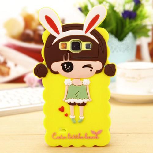 Силиконовый дизайнерский фигурный чехол для Samsung Galaxy A3