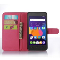 Чехол портмоне подставка с защелкой для Alcatel One Touch POP 3 5.5 Пурпурный