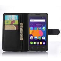 Чехол портмоне подставка с защелкой для Alcatel One Touch POP 3 5.5 Черный