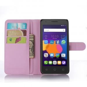 Чехол портмоне подставка с защелкой для Alcatel One Touch POP 3 5.5 Розовый