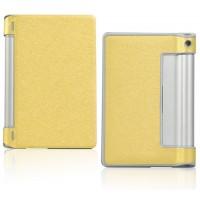 Чехол подставка на поликарбонатной основе текстура Золото для Lenovo Yoga Tablet 10 Желтый