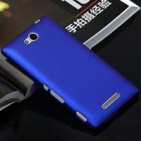 Пластиковый матовый непрозрачный чехол для Sony Xperia C Синий