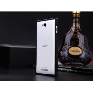 Металлический бампер для Sony Xperia C Черный
