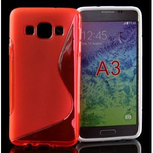 Силиконовый S чехол для Samsung Galaxy A3 Красный