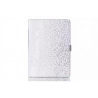 Чехол книжка подставка текстура Алмаз на поликарбонатной основе с магнитной защелкой для Samsung Galaxy Tab S 10.5 Белый