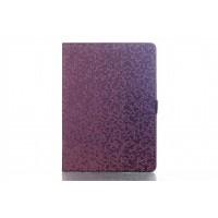 Чехол книжка подставка текстура Алмаз на поликарбонатной основе с магнитной защелкой для Samsung Galaxy Tab S 10.5 Фиолетовый