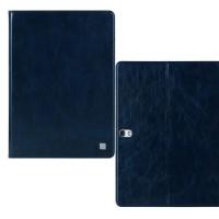 Кожаный чехол книжка подставка на поликарбонатной основе подставка для Samsung Galaxy Tab S 10.5 Синий