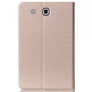 Чехол книжка подставка на поликарбонатной непрозрачной основе для Samsung Galaxy Tab E 9.6 Бежевый