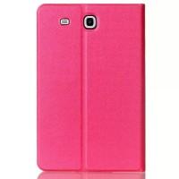 Чехол книжка подставка на поликарбонатной непрозрачной основе для Samsung Galaxy Tab E 9.6 Пурпурный
