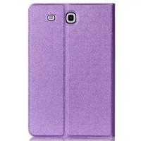 Чехол книжка подставка на поликарбонатной непрозрачной основе для Samsung Galaxy Tab E 9.6 Фиолетовый