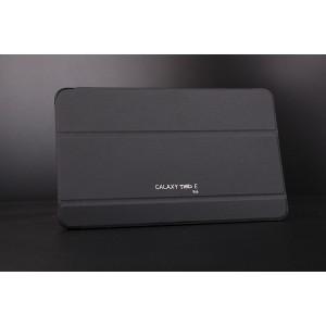 Сегментарный чехол книжка подставка на поликарбонатной непрозрачной основе для Samsung Galaxy Tab E 9.6 Черный