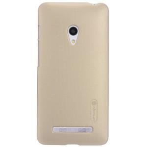 Премиум матовый пластиковый чехол для ASUS Zenfone 5 Бежевый