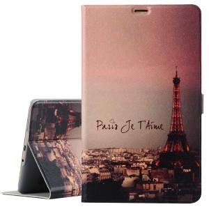Чехол книжка подставка на поликарбонатной основе с полноповерхностным принтом и магнитной защелке для Samsung Galaxy Tab S 8.4