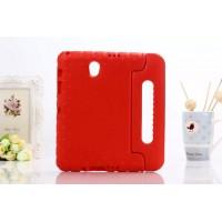 Ударостойкий детский силиконовый гиппоалергенный чехол с подставкой для Samsung Galaxy Tab S 8.4 Красный