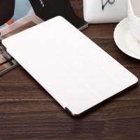 Сегментарный чехол книжка подставка текстура Линии на поликарбонатной транспарентный основе для Samsung Galaxy Tab S 8.4 Белый