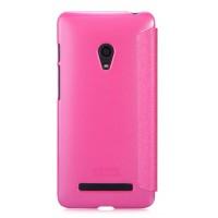 Чехол флип с окном вызова для ASUS Zenfone 5 Розовый