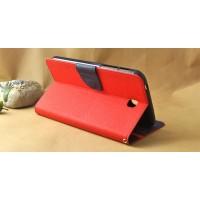 Чехол книжка подставка на силиконовой основе с отделениями для карт и магнитной защелкой для Samsung Galaxy Tab S 8.4 Красный