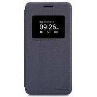 Чехол флип с окном вызова для ASUS Zenfone 5 Черный