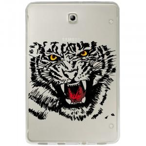 Силиконовый полупрозрачный чехол с принтом для Samsung Galaxy Tab S2 8.0