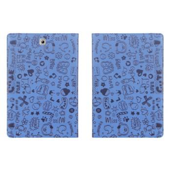 Чехол книжка подставка с рамочной защитой с полноповерхностным принтом для Samsung Galaxy Tab S2 8.0