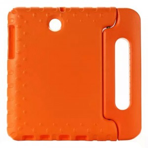 Ударостойкий детский силиконовый гиппоалергенный чехол с подставкой для Samsung Galaxy Tab S2 8.0 Оранжевый