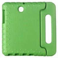Ударостойкий детский силиконовый гиппоалергенный чехол с подставкой для Samsung Galaxy Tab S2 9.7 Зеленый