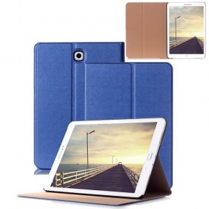 Чехол книжка подставка на поликарбонатной основе для Samsung Galaxy Tab S2 8.0 Синий