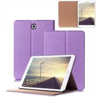 Чехол книжка подставка на поликарбонатной основе для Samsung Galaxy Tab S2 8.0 Фиолетовый
