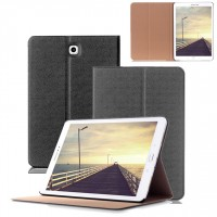 Чехол книжка подставка на поликарбонатной основе для Samsung Galaxy Tab S2 8.0 Черный