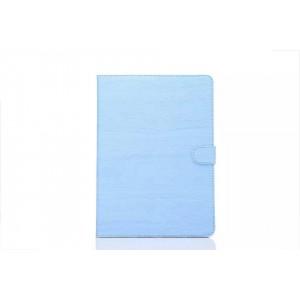 Чехол книжка подставка текстура Дерево на поликарбонатной основе с магнитной защелкой для Samsung Galaxy Tab S2 8.0 Голубой