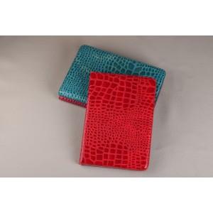Чехол книжка подставка текстура Крокодил на поликарбонатной основе с отделениями для карт для Samsung Galaxy Tab S2 8.0 Красный