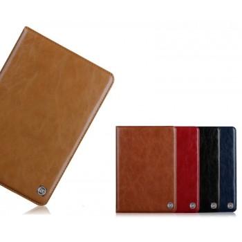 Кожаный чехол книжка подставка (нат. Кожа премиум) на поликарбонатной основе для Samsung Galaxy Tab S2 8.0