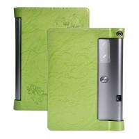 Дизайнерский чехол подставка с рамочной защитой и рельефным принтом для Lenovo Yoga Tab 3 Pro Зеленый