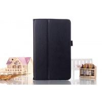Чехол книжка подставка с рамочной защитой экрана с крепежом для стилуса для Samsung Galaxy Tab S2 8.0 Черный