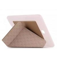 Оригами чехол книжка подставка на силиконовой основе для Samsung Galaxy Tab S2 9.7 Бежевый