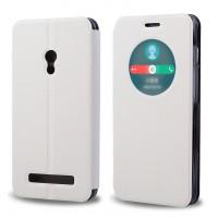 Чехол флип-подставка с окном вызова для ASUS Zenfone 6 Белый