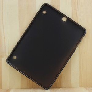 Силиконовый глянцевый непрозрачный чехол для Samsung Galaxy Tab S2 9.7 Черный