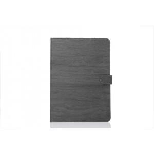 Чехол книжка подставка текстура Дерево на поликарбонатной основе с магнитной защелкой для Samsung Galaxy Tab S2 9.7 Черный